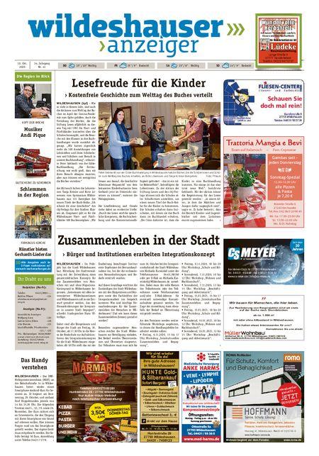 Wildeshauser Anzeiger vom 08.10.2020
