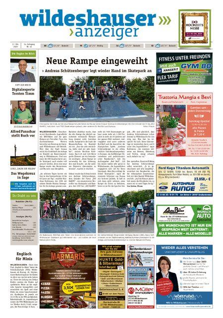 Wildeshauser Anzeiger vom 15.10.2020