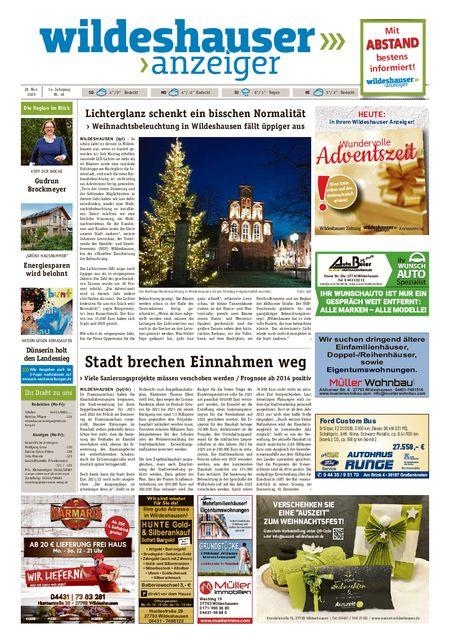 Wildeshauser Anzeiger vom 26.11.2020