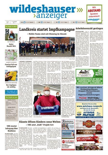 Wildeshauser Anzeiger vom 09.01.2021