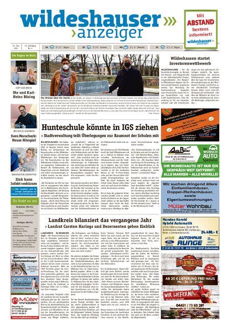 Wildeshauser Anzeiger vom 23.01.2021