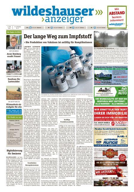 Wildeshauser Anzeiger vom 06.02.2021