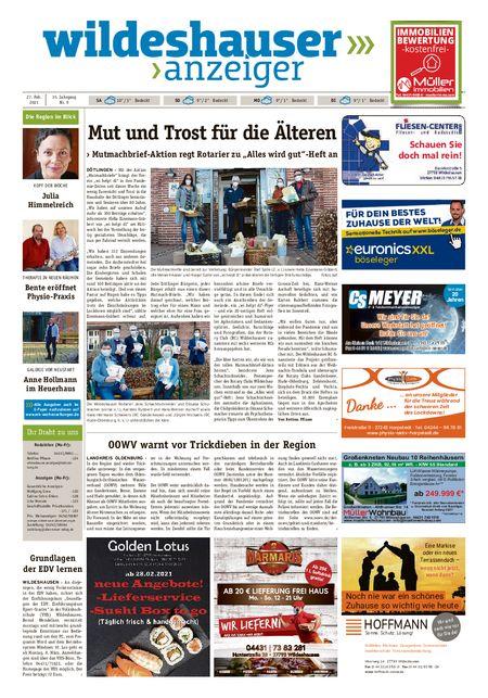 Wildeshauser Anzeiger vom 27.02.2021
