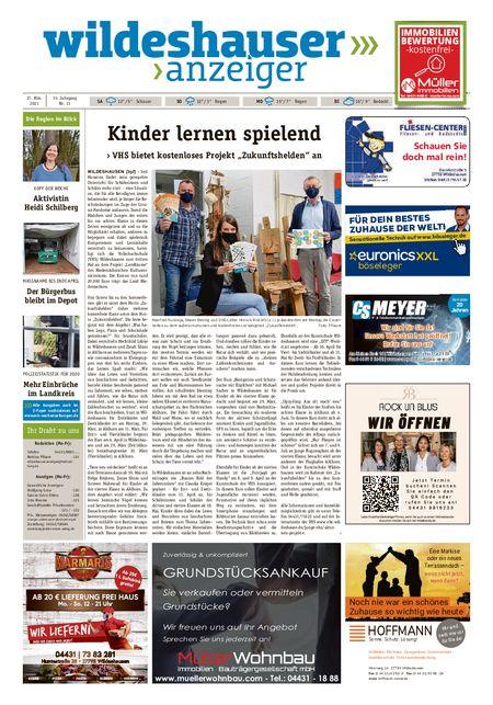 Wildeshauser Anzeiger vom 27.03.2021