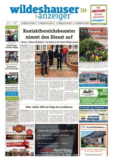 Wildeshauser Anzeiger vom 03.04.2021
