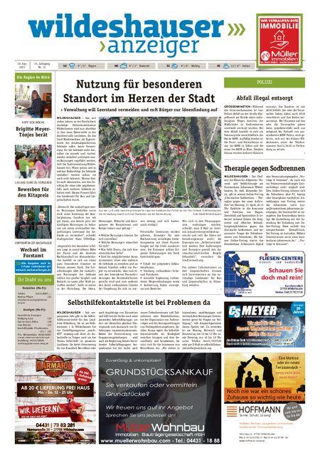 Wildeshauser Anzeiger vom 10.04.2021