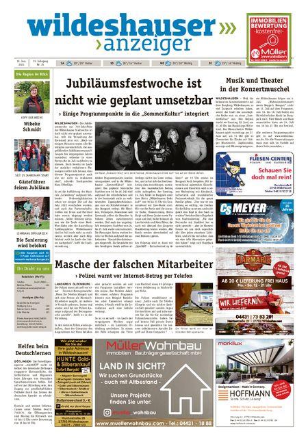 Wildeshauser Anzeiger vom 19.06.2021