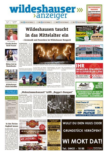 Wildeshauser Anzeiger vom 10.07.2021