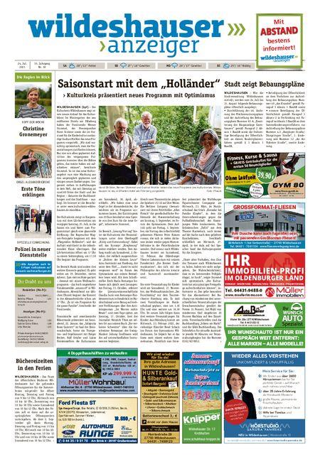Wildeshauser Anzeiger vom 24.07.2021