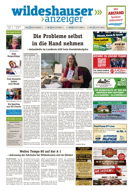 Wildeshauser Anzeiger vom 18.09.2021