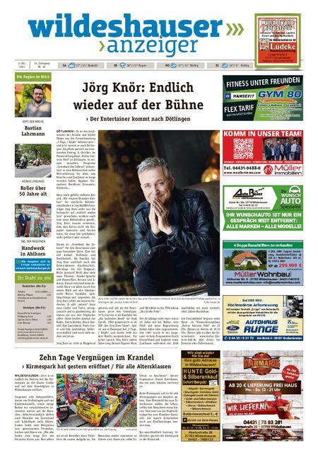 Wildeshauser Anzeiger vom 02.10.2021