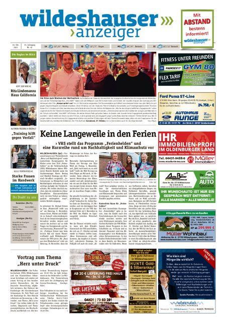 Wildeshauser Anzeiger vom 16.10.2021