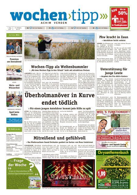 Wochen-Tipp Achim vom 07.08.2019
