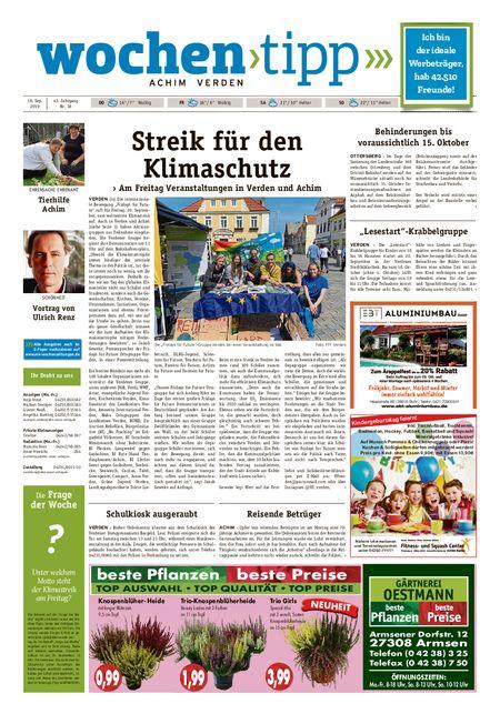 Wochen-Tipp Achim vom 18.09.2019