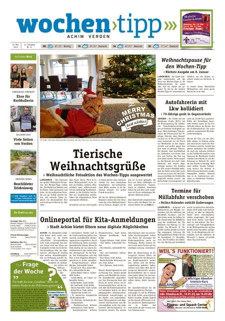 Wochen-Tipp Achim vom 18.12.2019