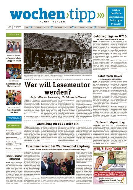 Wochen-Tipp Achim vom 05.02.2020