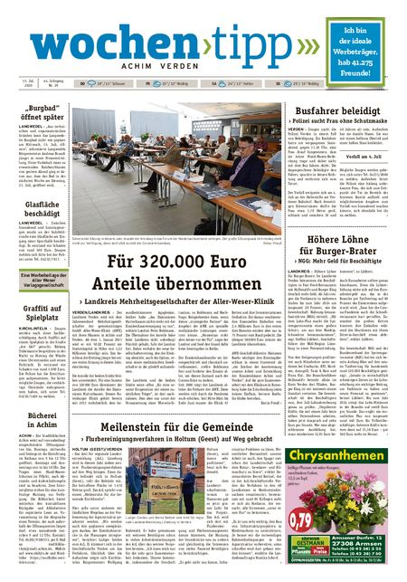 Wochen-Tipp Achim vom 15.07.2020