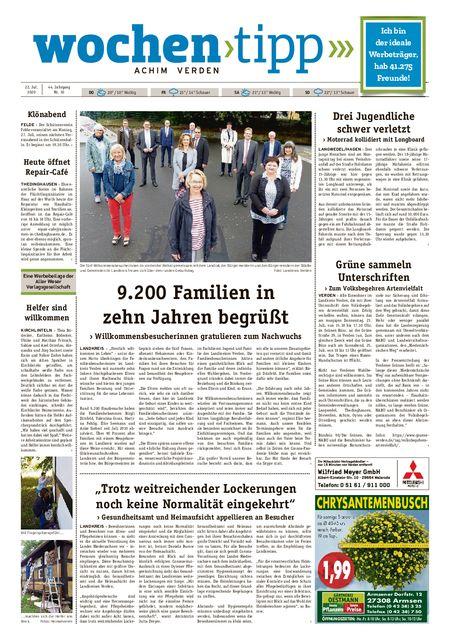 Wochen-Tipp Achim vom 22.07.2020