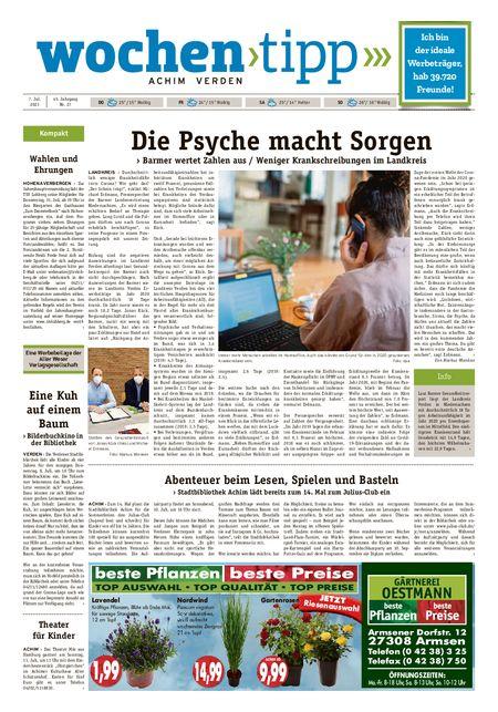 Wochen-Tipp Achim vom 07.07.2021