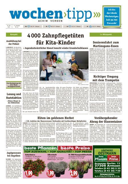 Wochen-Tipp Achim vom 20.10.2021