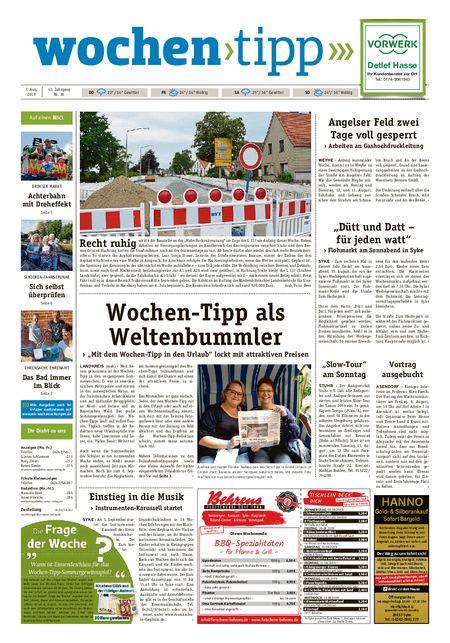 Wochen-Tipp Nord/West vom 07.08.2019