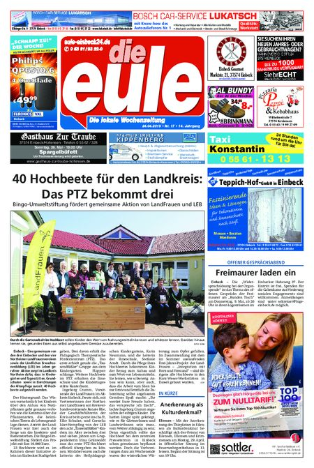 Die Eule - Wochenmitte vom 24.04.2019