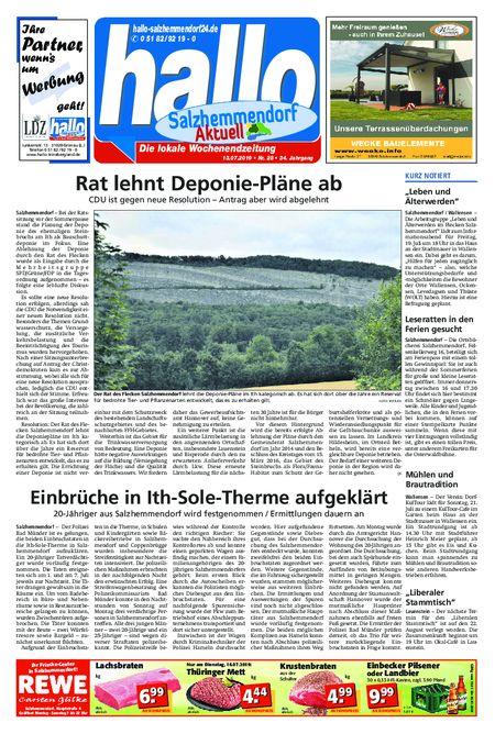 Salzhemmendorf Aktuell vom 13.07.2019