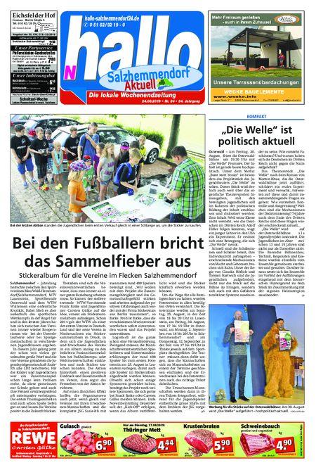 Salzhemmendorf Aktuell vom 24.08.2019