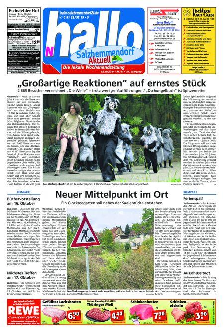 Salzhemmendorf Aktuell vom 12.10.2019