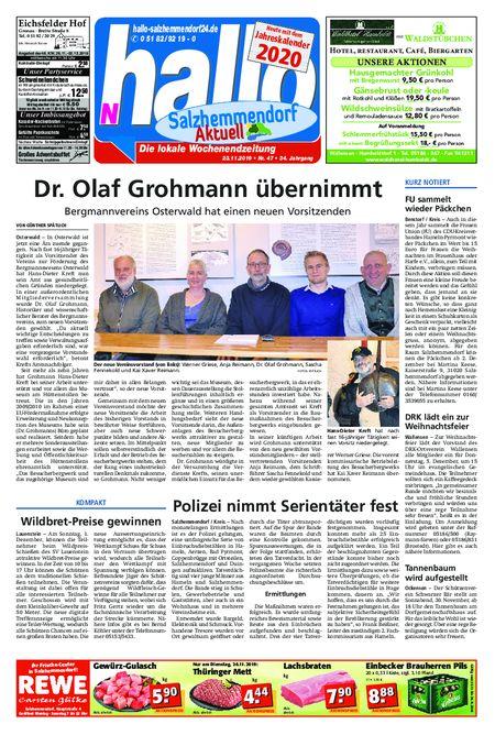 Salzhemmendorf Aktuell vom 23.11.2019