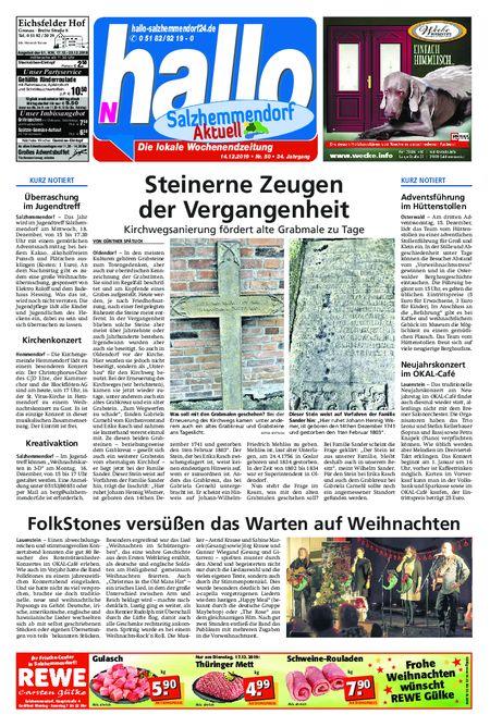 Salzhemmendorf Aktuell vom 14.12.2019