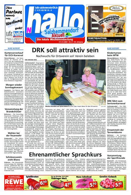 Salzhemmendorf Aktuell vom 11.01.2020