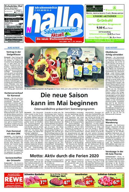 Salzhemmendorf Aktuell vom 18.01.2020