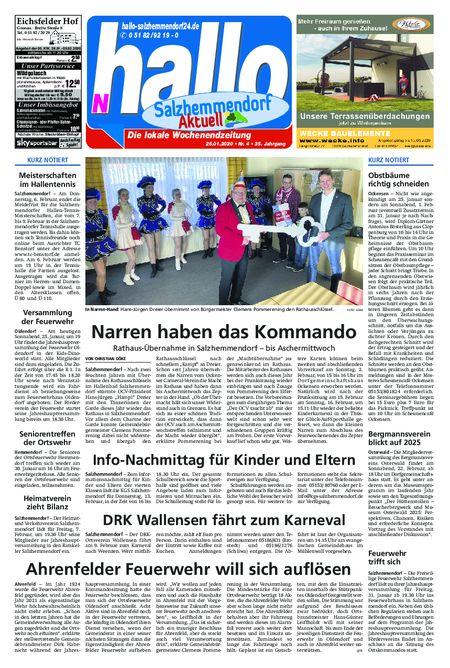 Salzhemmendorf Aktuell vom 25.01.2020