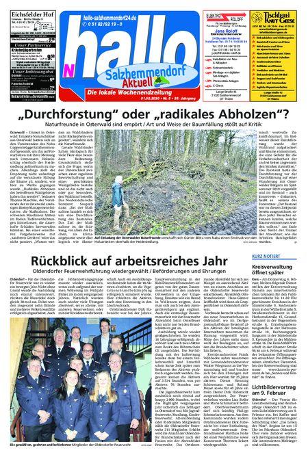 Salzhemmendorf Aktuell vom 01.02.2020