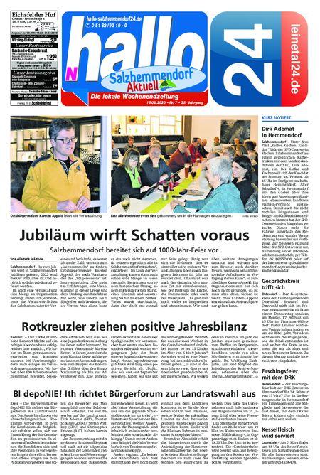 Salzhemmendorf Aktuell vom 15.02.2020