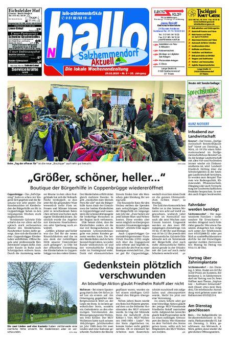 Salzhemmendorf Aktuell vom 29.02.2020