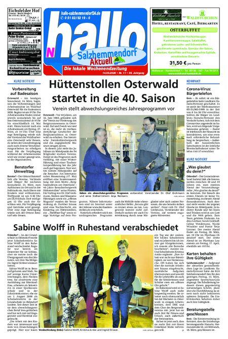 Salzhemmendorf Aktuell vom 14.03.2020