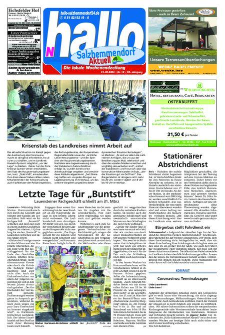 Salzhemmendorf Aktuell vom 21.03.2020