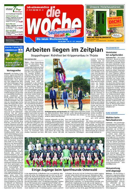 Salzhemmendorf Aktuell vom 02.09.2020
