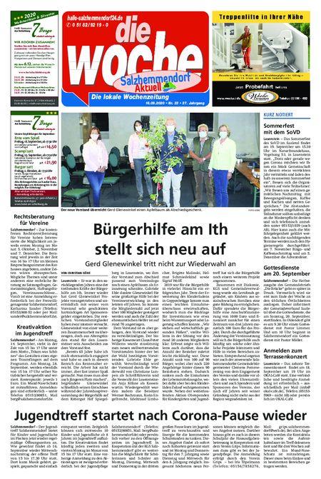 Salzhemmendorf Aktuell vom 16.09.2020