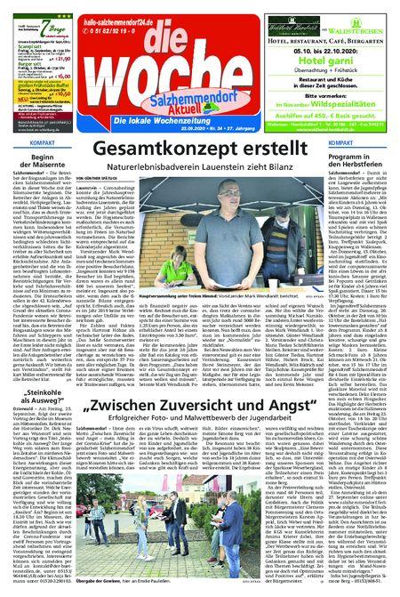 Salzhemmendorf Aktuell vom 23.09.2020
