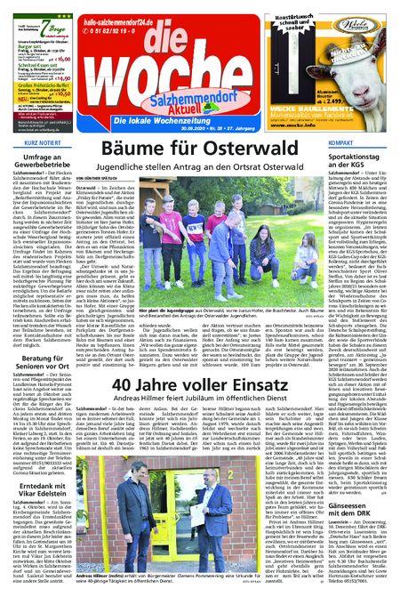 Salzhemmendorf Aktuell vom 30.09.2020