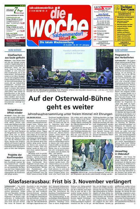 Salzhemmendorf Aktuell vom 07.10.2020
