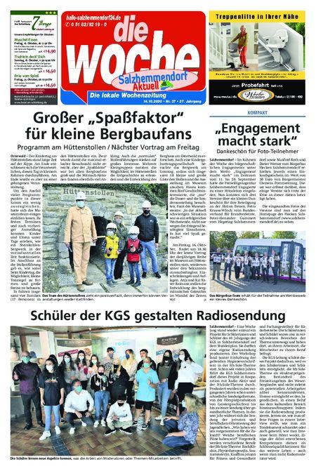 Salzhemmendorf Aktuell vom 14.10.2020
