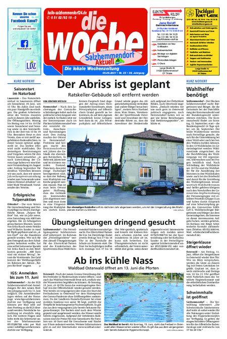 Salzhemmendorf Aktuell vom 09.06.2021