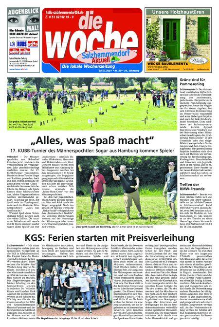 Salzhemmendorf Aktuell vom 28.07.2021