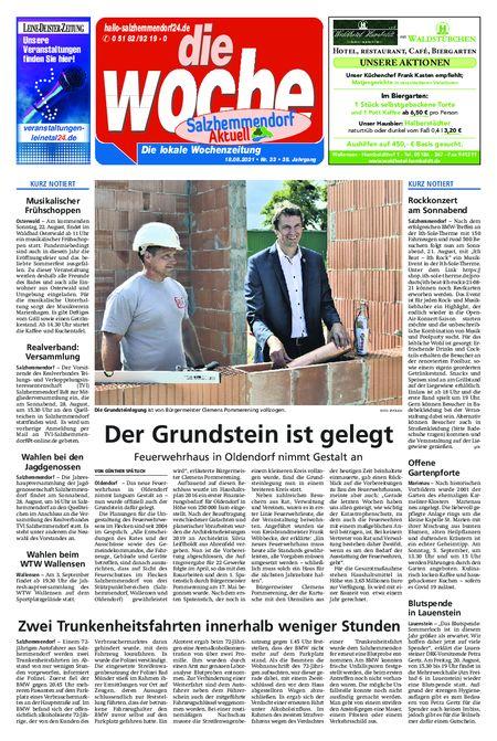 Salzhemmendorf Aktuell vom 18.08.2021