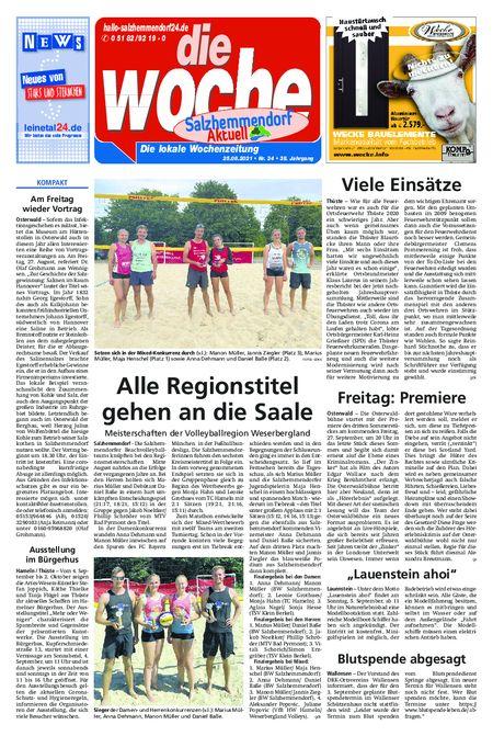 Salzhemmendorf Aktuell vom 25.08.2021