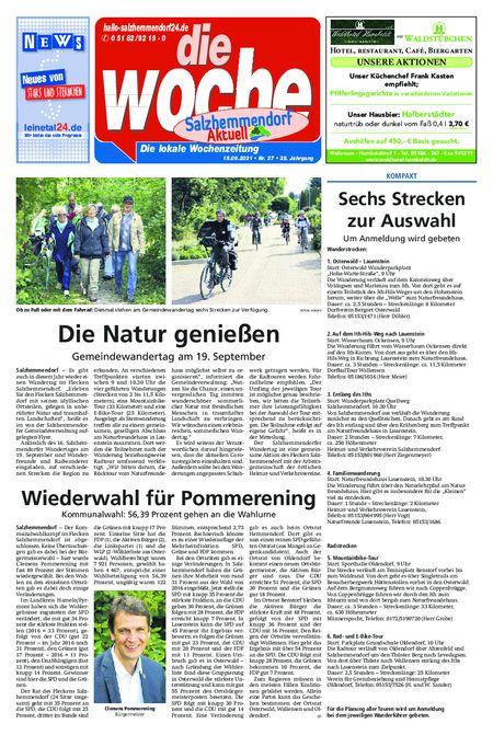 Salzhemmendorf Aktuell vom 15.09.2021